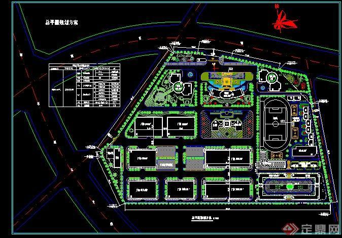 某工业园规划CAD总平面图图片