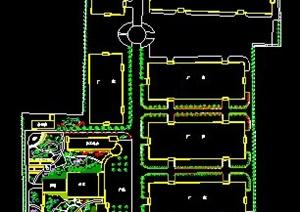 啤酒厂厂区绿化总平面图