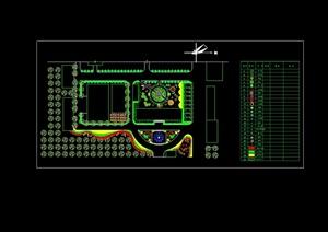 某厂区详细景观设计cad方案总图