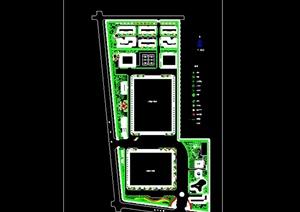某现代工业园绿化规划设计cad方案图