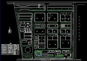某厂区绿化设计平面图