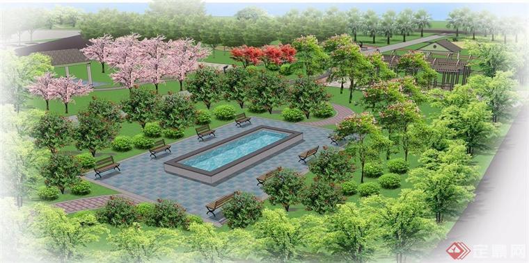 树阵广场平面图素材