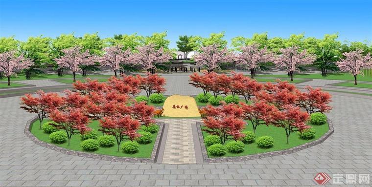 半圆广场效果图
