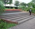 公园景观,台阶踏步,防腐木铺地