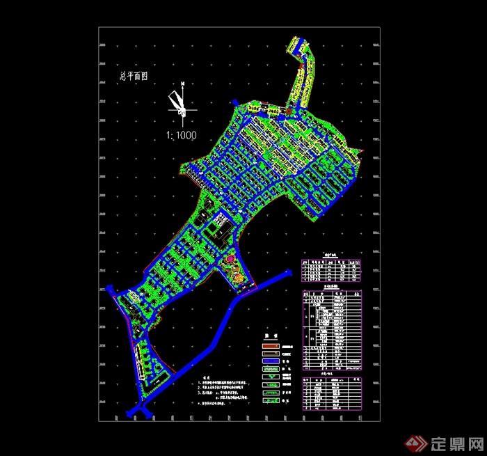 格小区规划设计cad总平面图图片
