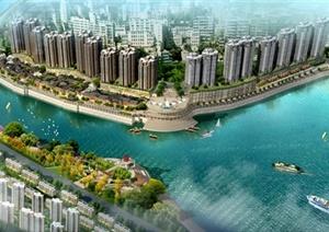 某核心城市滨河景观设计含psd效果图