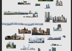 城市远景PSD贴图