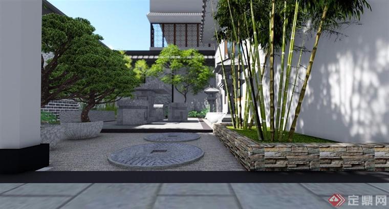中式庭院景观-圆海文化.禅意网图片