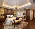 住宅空间,卧室,卧室装饰,床,床头柜,床尾凳,吊灯