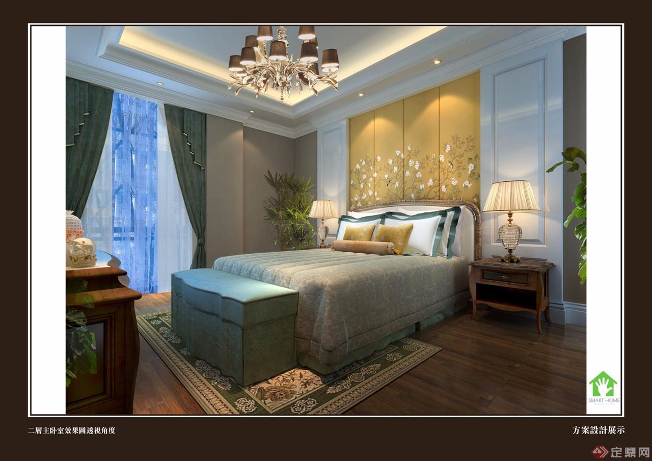 二层主卧室效果图透视角度