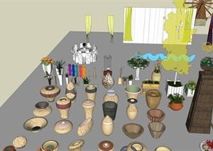 各类园林景观装饰品SU(草图大师)模型