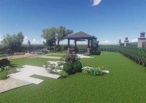 合肥绿色港湾别墅庭院景观设计