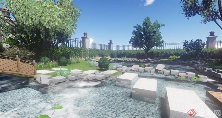 合肥别墅庭院装饰 欧式美式风格效果图