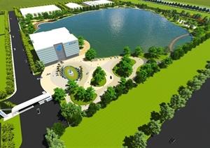黄冈晨鸣浆纸公司厂区景观设计