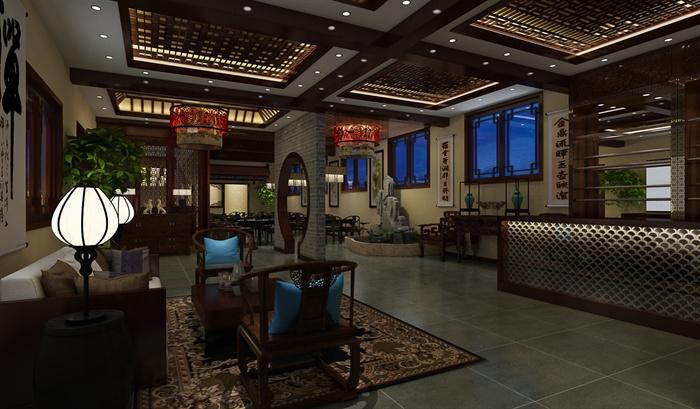 某古典中式风格禅意茶室设计茶室cad+效果图+3d源文件
