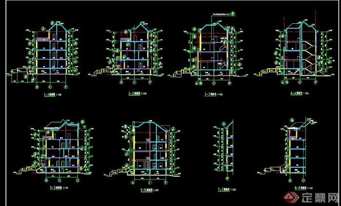 mx13.3m多层住宅楼建筑施工图