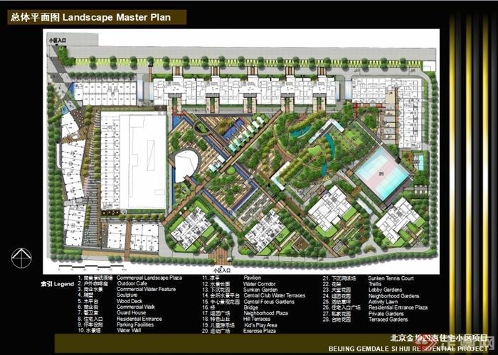 整详细精致住宅景观规划设计ppt文本