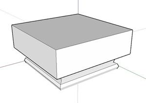 简约柱子柱头设计SU(草图大师)模型