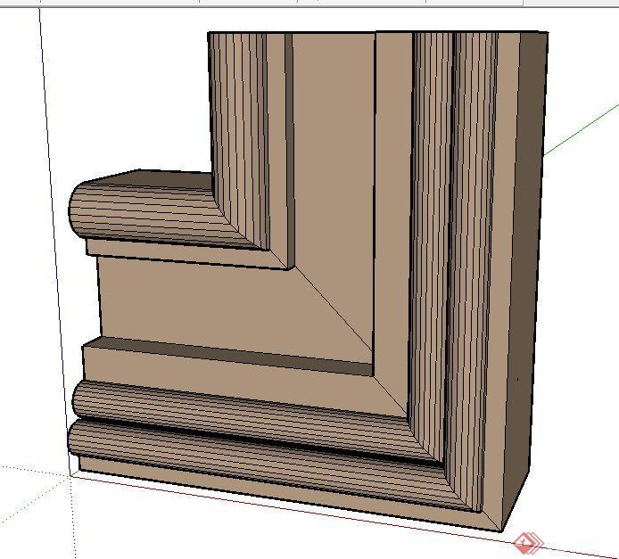 门套窗套设计su模型(2)