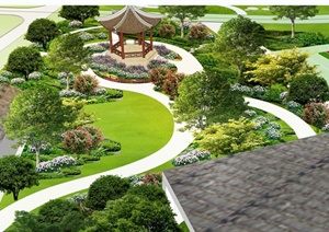 公园景观设计psd效果图