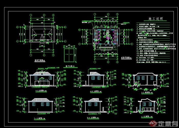 某美式风格公共厕所设计CAD施工图