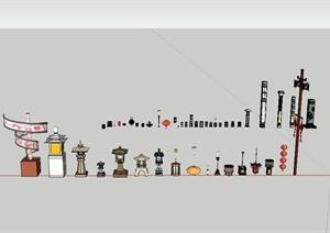 各类灯具素材SU(草图大师)模型设计
