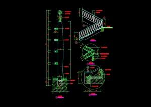 某現代風格樓梯欄桿設計cad施工圖