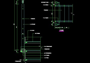 某現代風格樓梯欄桿局部設計cad施工圖