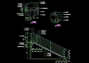 某現代風格室內樓梯欄桿設計cad施工圖