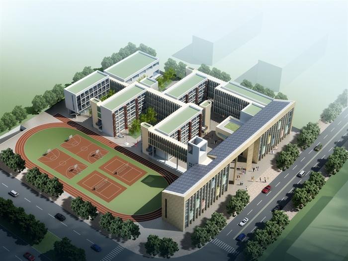 某小学景观规划及建筑单体设计jpg方案文本[原创]