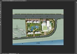 某住宅小区庭院景观规划设计PSD彩平图