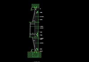 吊挂式玻璃幕墙节点CAD施工图图集