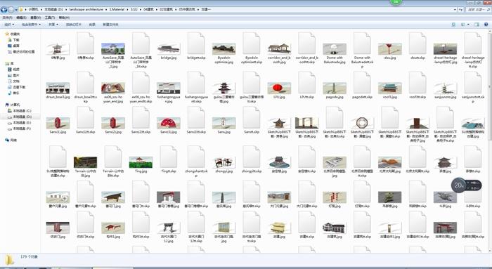 中国古建筑大合集SU模型含JPG图片文件