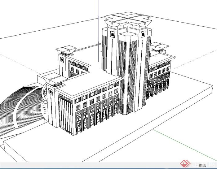 7图书馆建筑马克笔表现方法.jpg_乐乐简笔画
