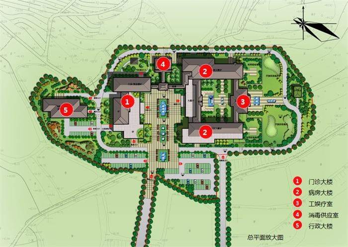 某现代中式方案精神病院建筑设计ppt公司风格[原创]全套背景墙v方案图片