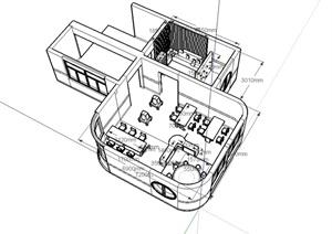 现代风格小天使幼儿园美术室设计SU(草图大师)模型