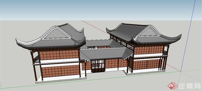 中国古建筑大合集SU模型含JPG图片文件(5)