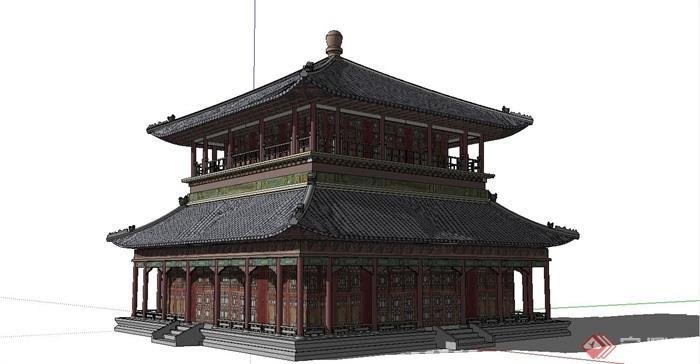 中国古建筑大合集SU模型含JPG图片文件(8)