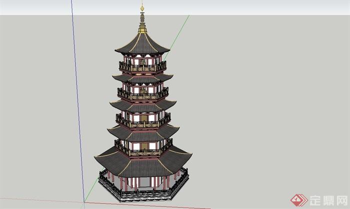 中国古建筑大合集SU模型含JPG图片文件(9)