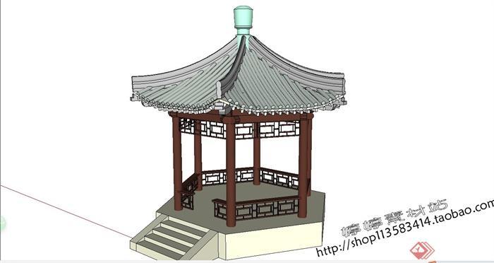 中国古建筑大合集SU模型含JPG图片文件(16)
