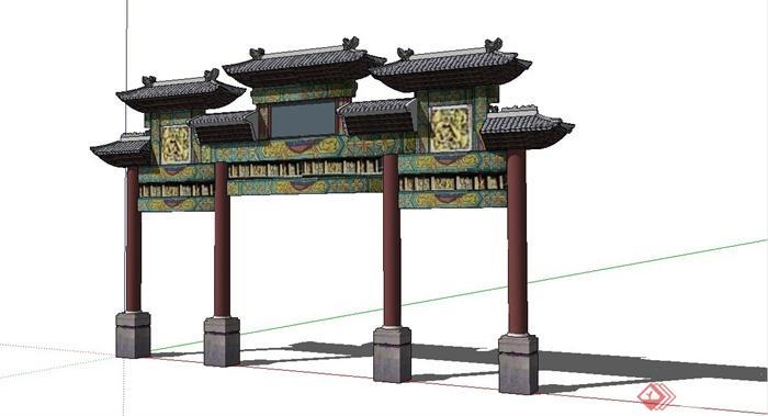 中国古建筑大合集SU模型含JPG图片文件(18)