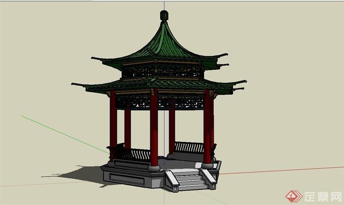 中国古建筑大合集SU模型含JPG图片文件(20)