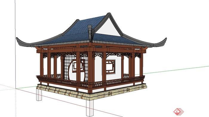 中国古建筑大合集SU模型含JPG图片文件(19)