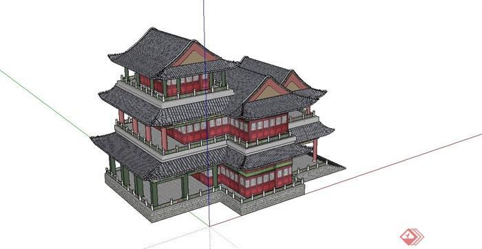 中国古建筑大合集SU模型含JPG图片文件(22)