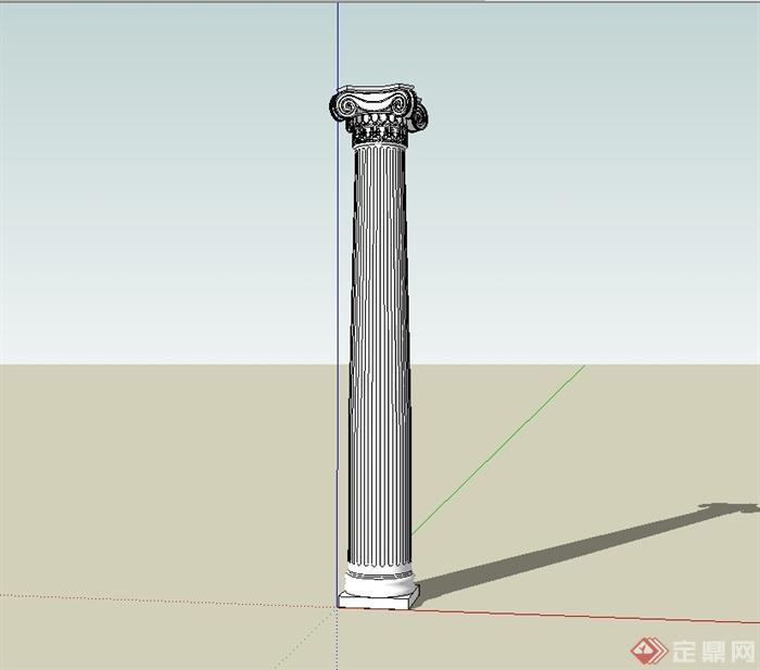 某欧式风格柱子设计su模型(3)