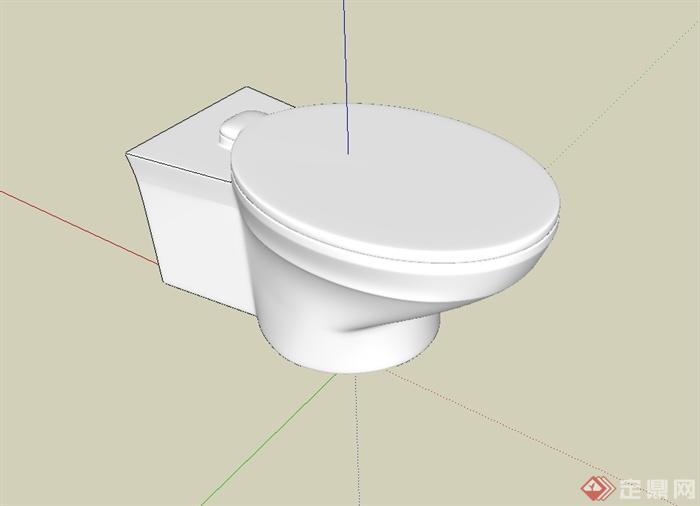 某卫生间马桶设计su模型[原创]