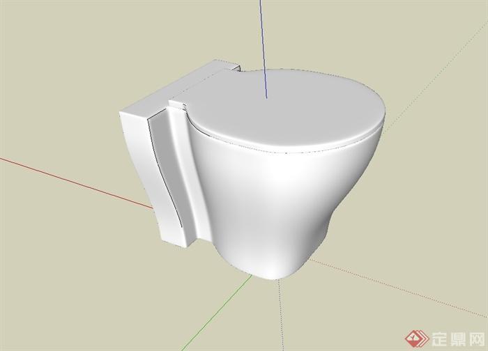 单个卫浴马桶设计su模型[原创]
