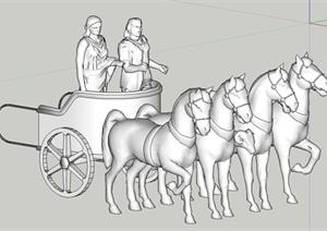 古希腊雕塑设计SU(草图大师)模型