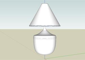某现代床头台灯设计SU(草图大师)模型