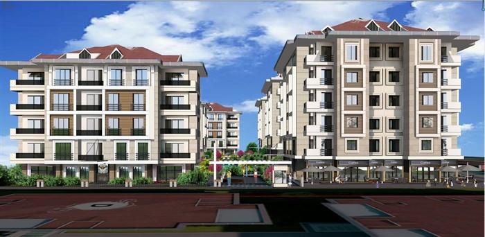 欧式风格住宅小区建筑设计su模型含cad平面图和jpg效果图[原创]